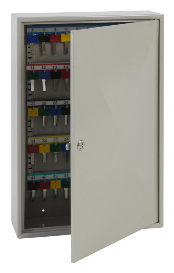This Phoenixsafe Deep key cabinet KC0300 Series - KC0302K  has a high quality cylinder lock with 2 keys to enable ease of access to the keys. We can also supply extra keys for the lock with your order.