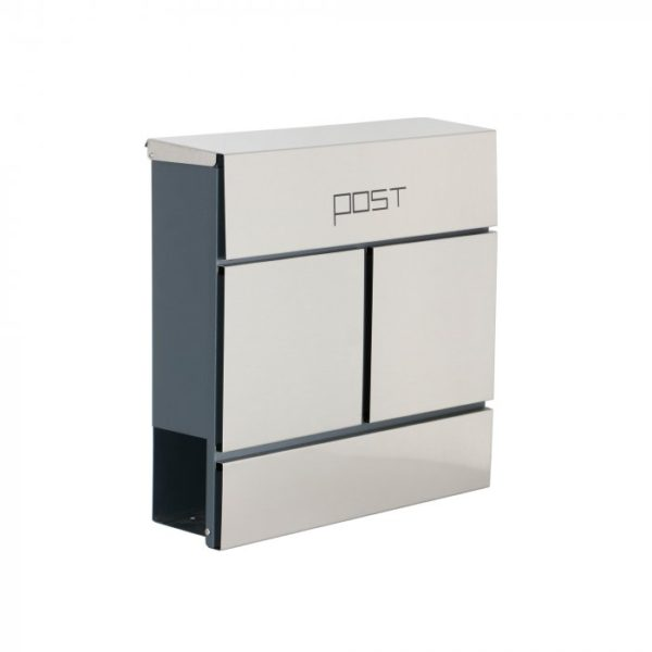 The Phoenixsafe MB0120 Series Estilo Letter Boxes - MB0124KS is a heavy duty constructed steel and stainless steel mail box. Mail can be put into the letter box by lifting the top opening hinged lid. The posting slot of this unit has dimensions of 35 mm x 335 mm.