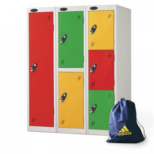 probe    doors low locker in multi colour
