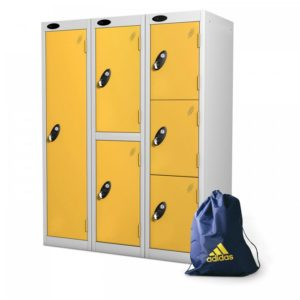 probe    doors low locker in yellow colour