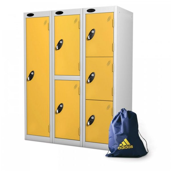 probe    doors low locker in yellow colour