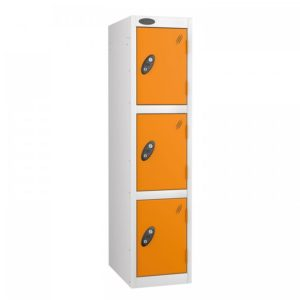 probe  doors junior low locker in white orange colour