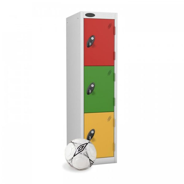probe  doors low locker in red green yellow