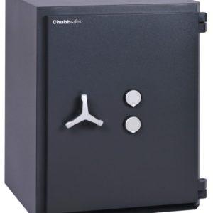 Chubbsafes Custodian Grade 4 210k with two key locks.