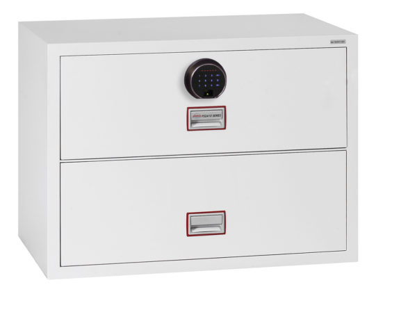 Lateral Fire File FS2412F with fingerprint lock