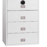 Lateral Fire File FS2414F with fingerprint lock