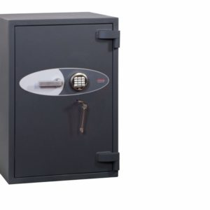 Phoenixsafe planet hs6073e with key and electronic code lock.