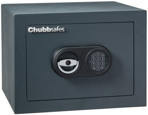 Chubbsafes Zeta Grade 1- size 50e with electronic code lock.for the home, small business or commercial venture. Tested and certified by ECB-S to European Standard EN 1143-1, Euro Grade 1. Security Protection: This Chubbsafes Zeta Grade 1 size 50e has an over night cash rating of £10,000 or up to £100,000 of valuables. Subject to Insurer confirmation. This is an AiS approved safe. Construction: The body 45mm thickness with an inner and outer core that is filled with a multi material, burglar resistant barrier and its 8mm thick steel door has 25mm diameter steel locking bolt work, and, If the lock is compromised, this safe has a re locking device to deter any burglar. This is indeed a strong safe. Locking: Secured by a high security easy use electronic code lock, certified. EN 1300 Class B. This features two programmable user codes and this also has a programmable time delay function. Fittings: One shelf comes with the Chubbsafes Zeta Grade 1 size 50E . Base fixing: Prepared for base and rear fixing to secure the safe to a floor and/or solid wall, and for this reason will comply fully with Insurer requirements. Warranty: Chubbsafes give the Chubbsafes Zeta Grade 1 size 50E a two year warranty against defects arising from materials or production. Delivery: In conclusion we give FreeUK mainland kerbside Courier delivery with the option to add professional base fixing to your order. Assumes ground floor, clear access, no stairs. Back order? why not look at this alternative suggestion. Click here Quick search tip 1: Raise the page to see alternative sizes, same range or re raisethe page further to see alternative brands, similar sizes.