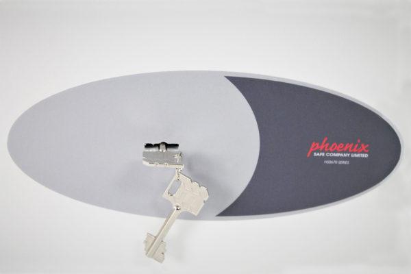 HS0671K CLOSE UP OF DOOR DECAL.
